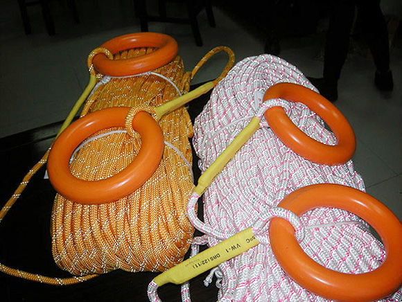 Floating surface reflective rope